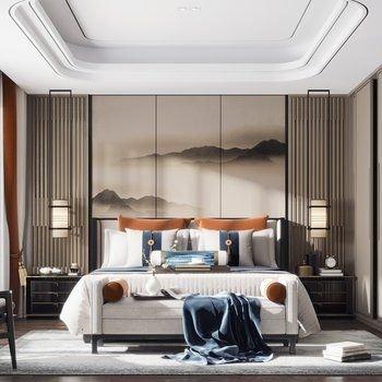 Nội thất phòng ngủ phong cách Indochine