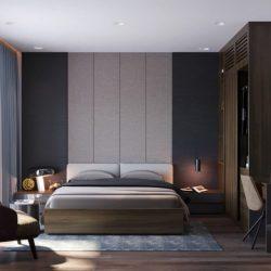 Thiết kế nội thất phòng ngủ master nhà ống hiện đại