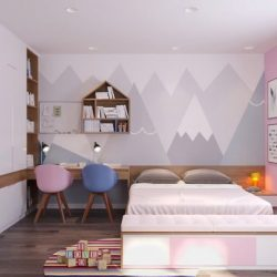 Thiết kế nội thất phòng ngủ cho bé nhà ống hiện đại