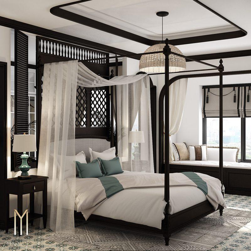 Thiết kế phòng ngủ Đông Dương