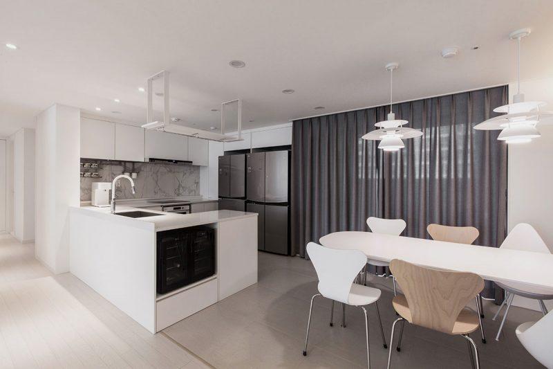 Thiết kế phòng bếp đơn giản tiện nghi