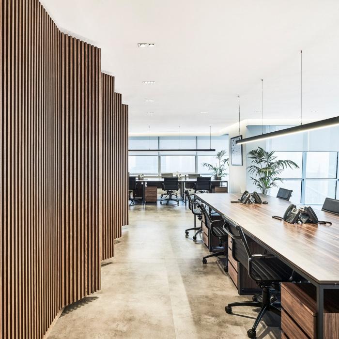 Thiết kế nội thất văn phòng gỗ